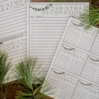 Free Printable Christmas Storage Labels