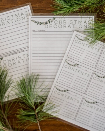 Free Printable Christmas Storage Labels