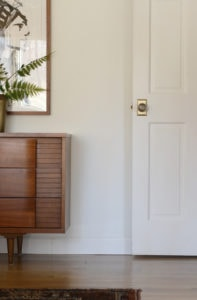 White door with brass doorknob