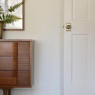 White door with brass doorknob