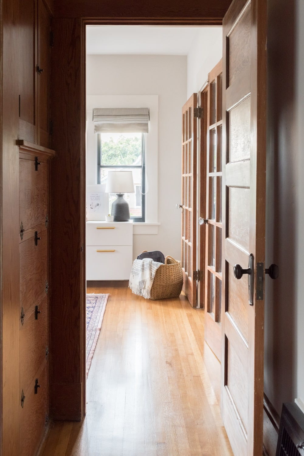 Bright Home Office Entry