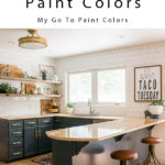 How to pick paint colors featuring dark kitchen cabinets and white tile