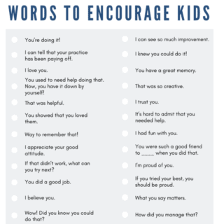 Words of encouragement print