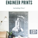 Engineer print for art