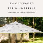 Stenciled patio umbrella DIY