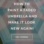 Faded patio umbrella