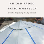 how to paint a faded patio umbrella