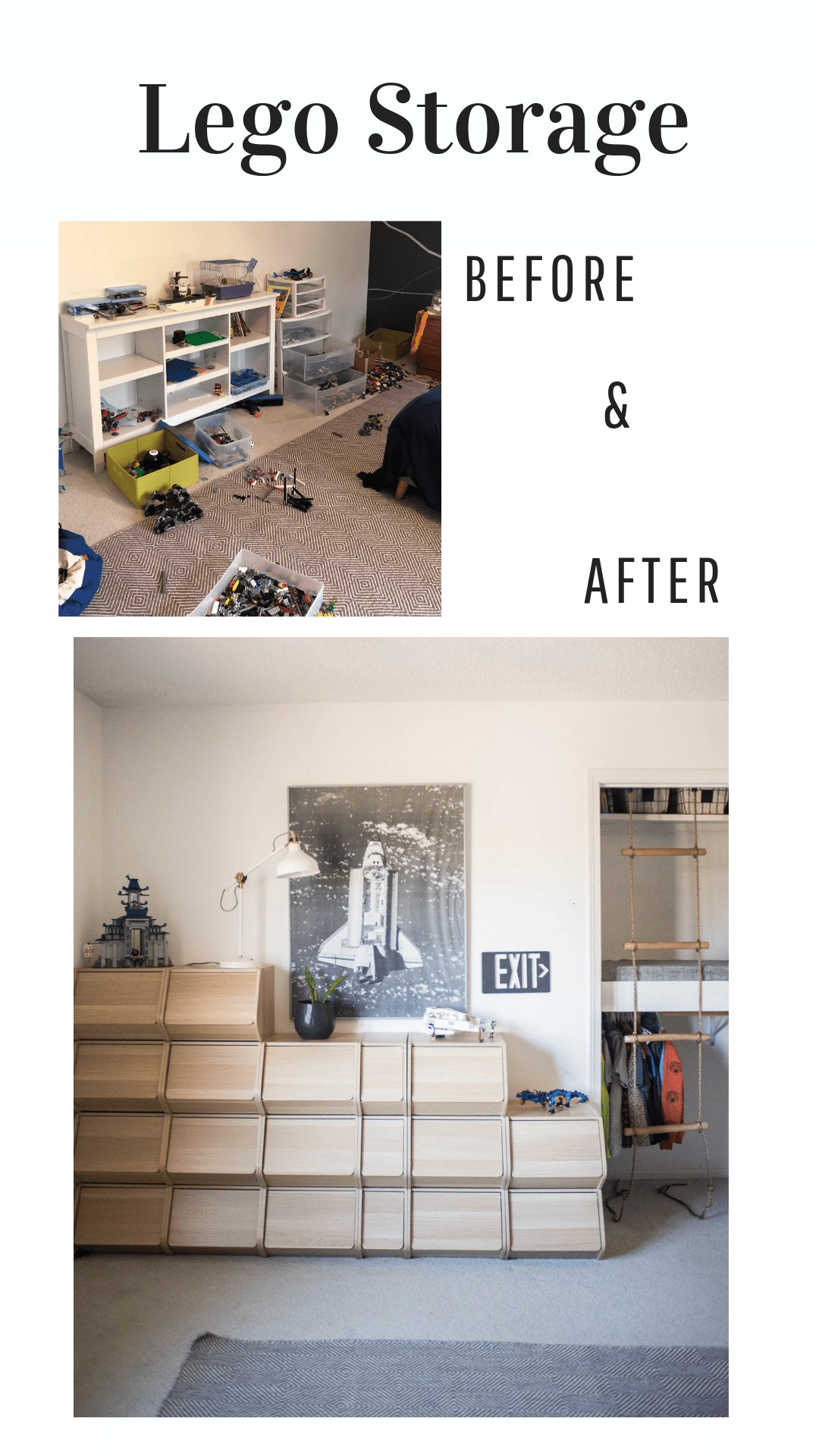 Before and after lego storage