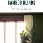 Cut bamboo blinds