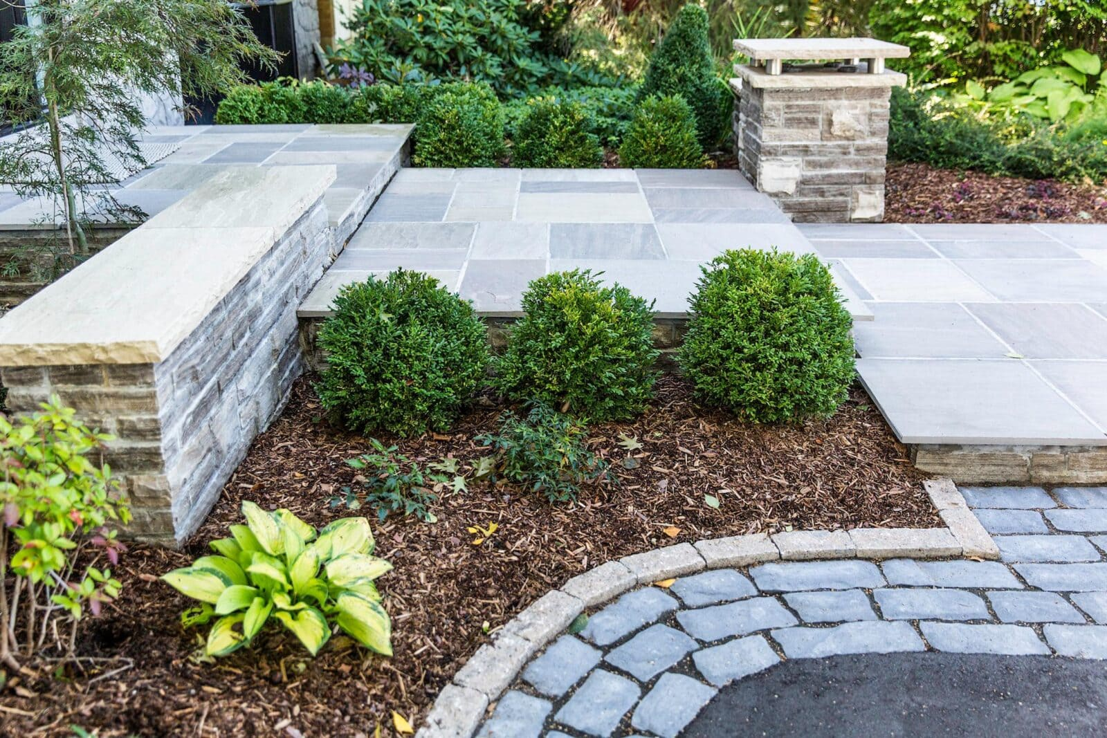 Landscape design by stone