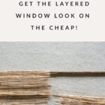 DIY fake window shades