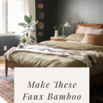 Faux bamboo window shades
