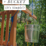 playset addition bucket and pulley / treehouse
