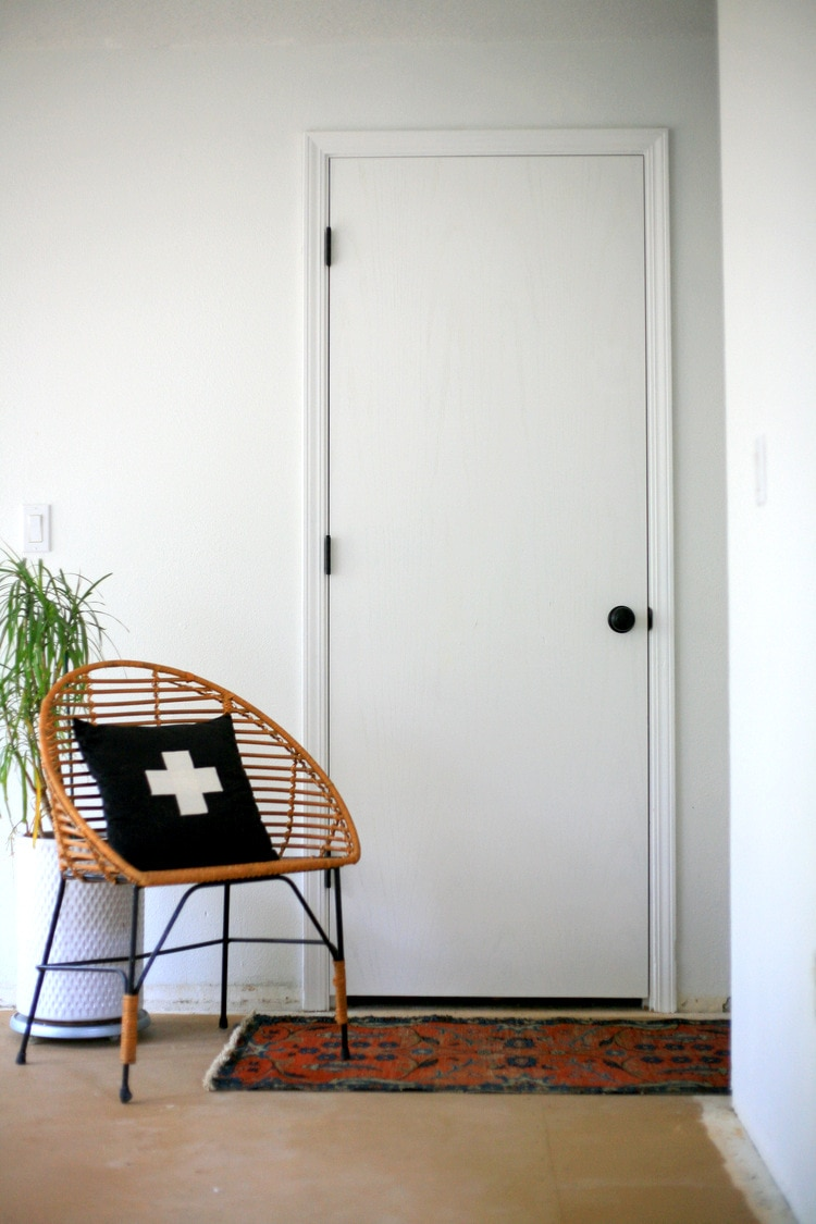 upgrading doors in a cookie cutter home