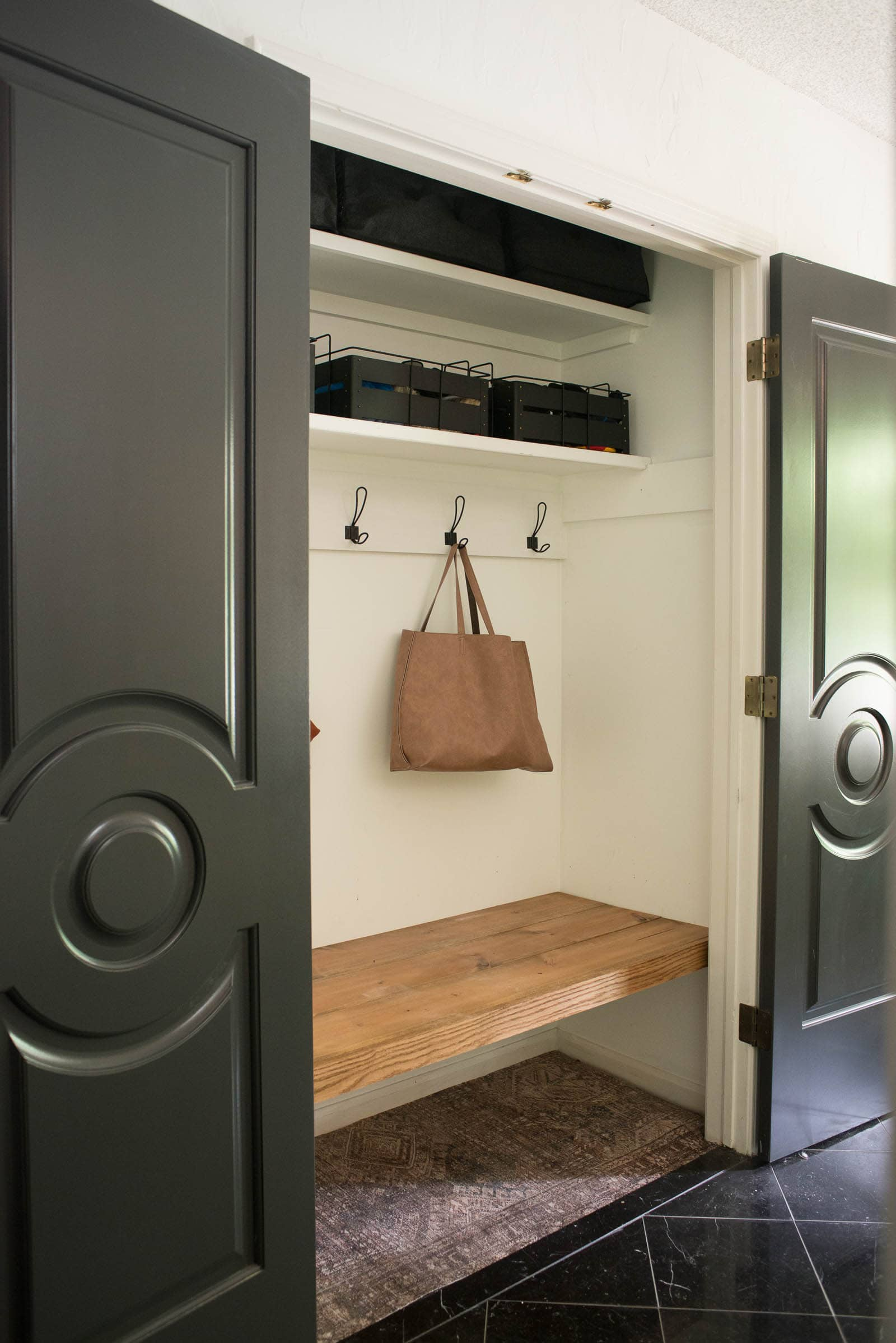 Coat Closet with bench