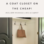 Coat closet before and after