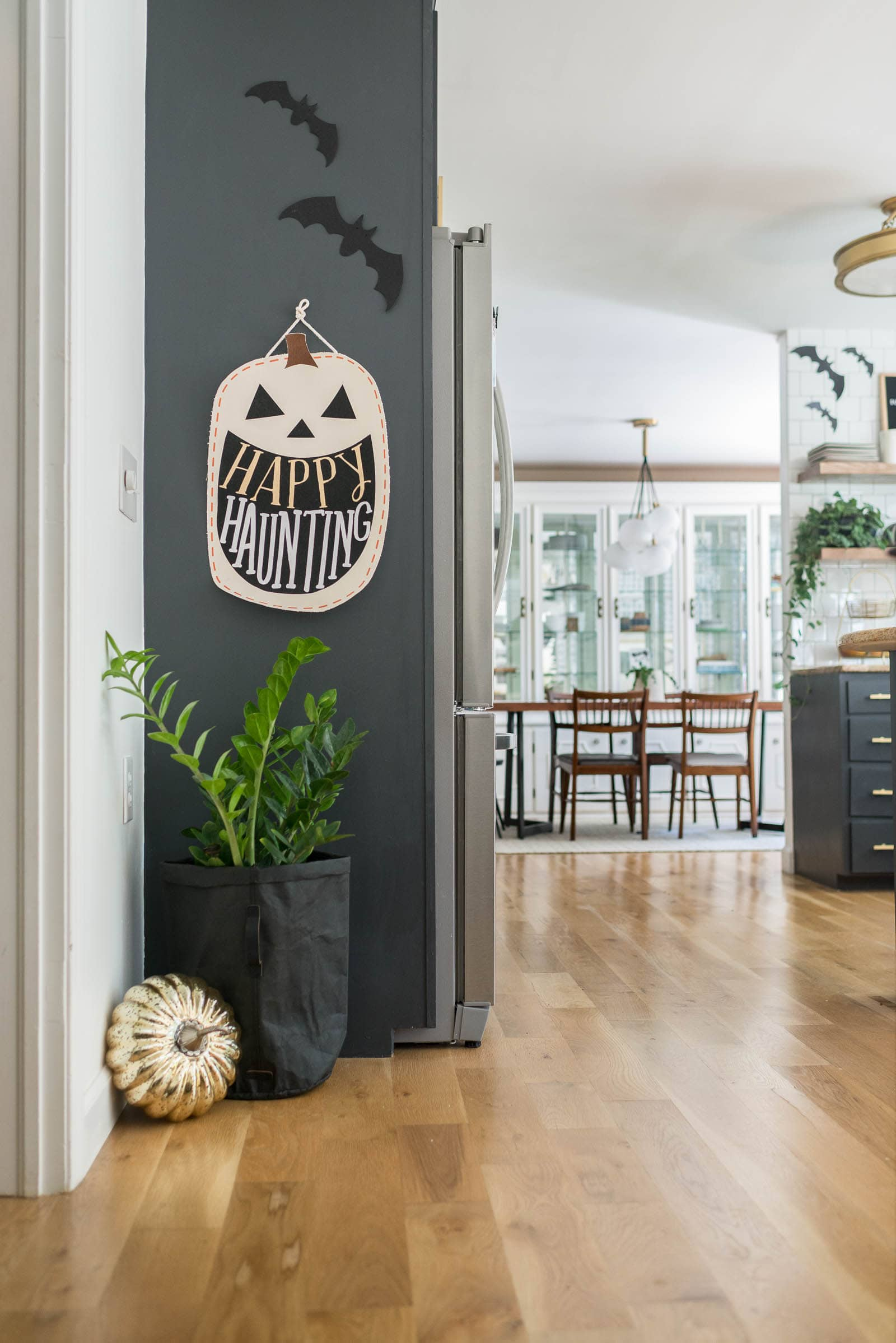 Pops of halloween in the kitchen