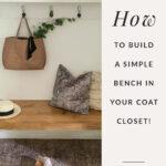 Organized coat closet with bench