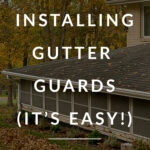 diy gutter guard installation