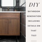 DIY Bathroom renovation with black tile
