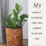 Leather Planter Pot DIY