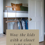 kids closet idea reading loft