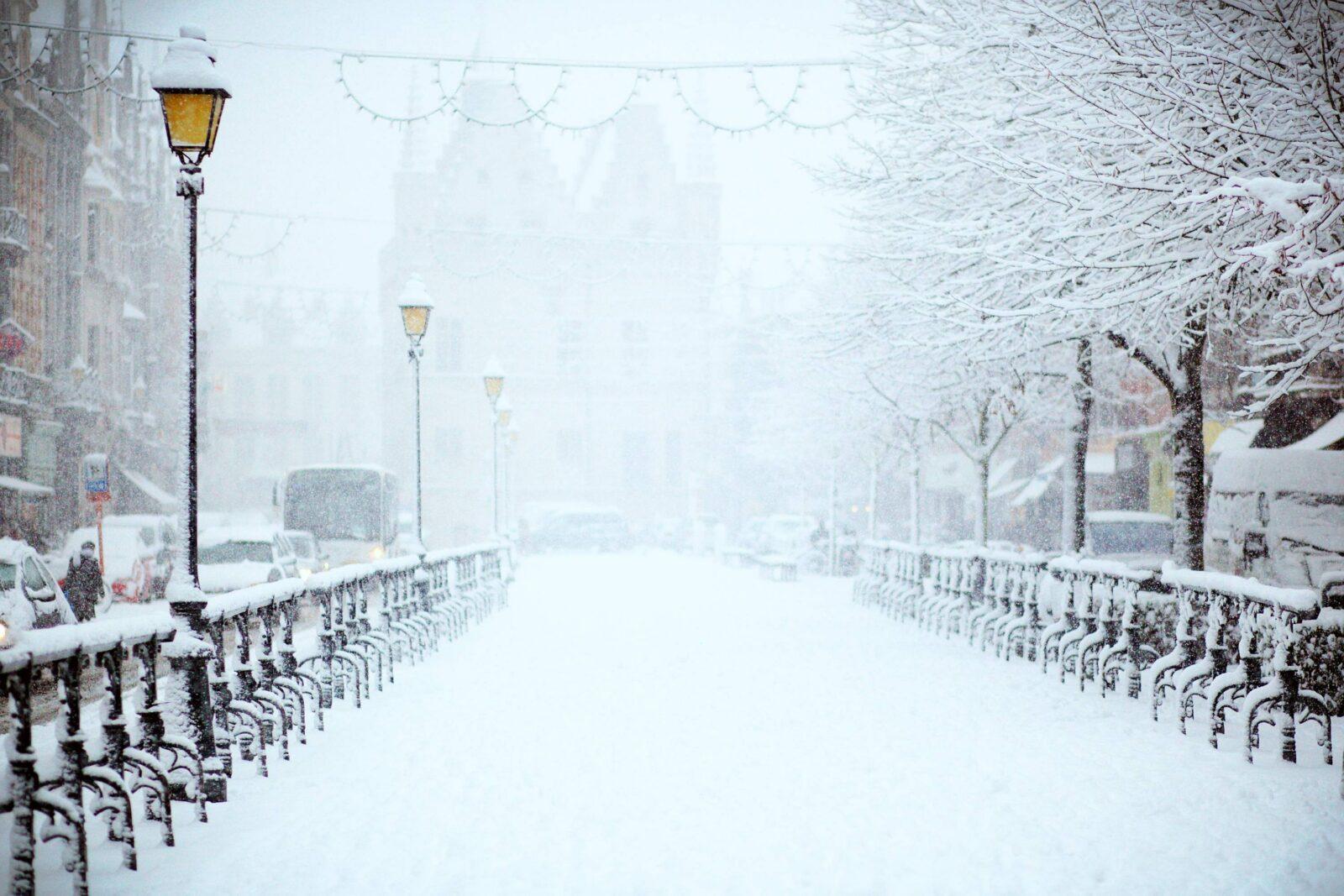 Snowy Christmas street