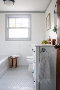 Modern transitional bathroom reveal