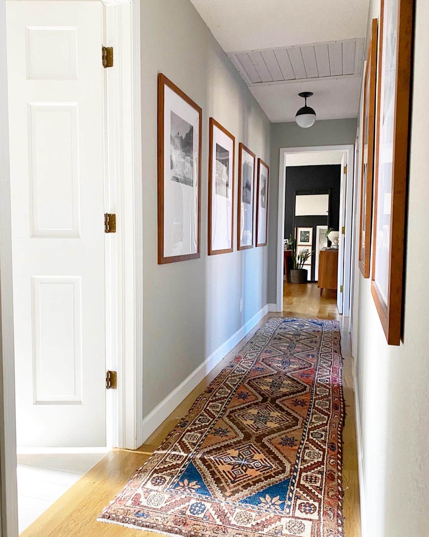 Gallery wall in hallway