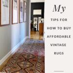 Vintage hallway rug