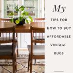 Vintage dining room rug