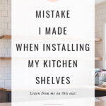 DIY mistakes on shelves