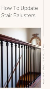 DIY for updating stair balusters