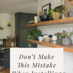 kitchen shelving mistake