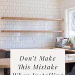 Mistake on floating shelves
