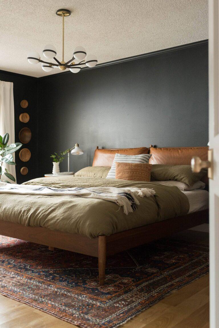 Tricorn Black Master Bedroom Reveal - Bigger Than the ...