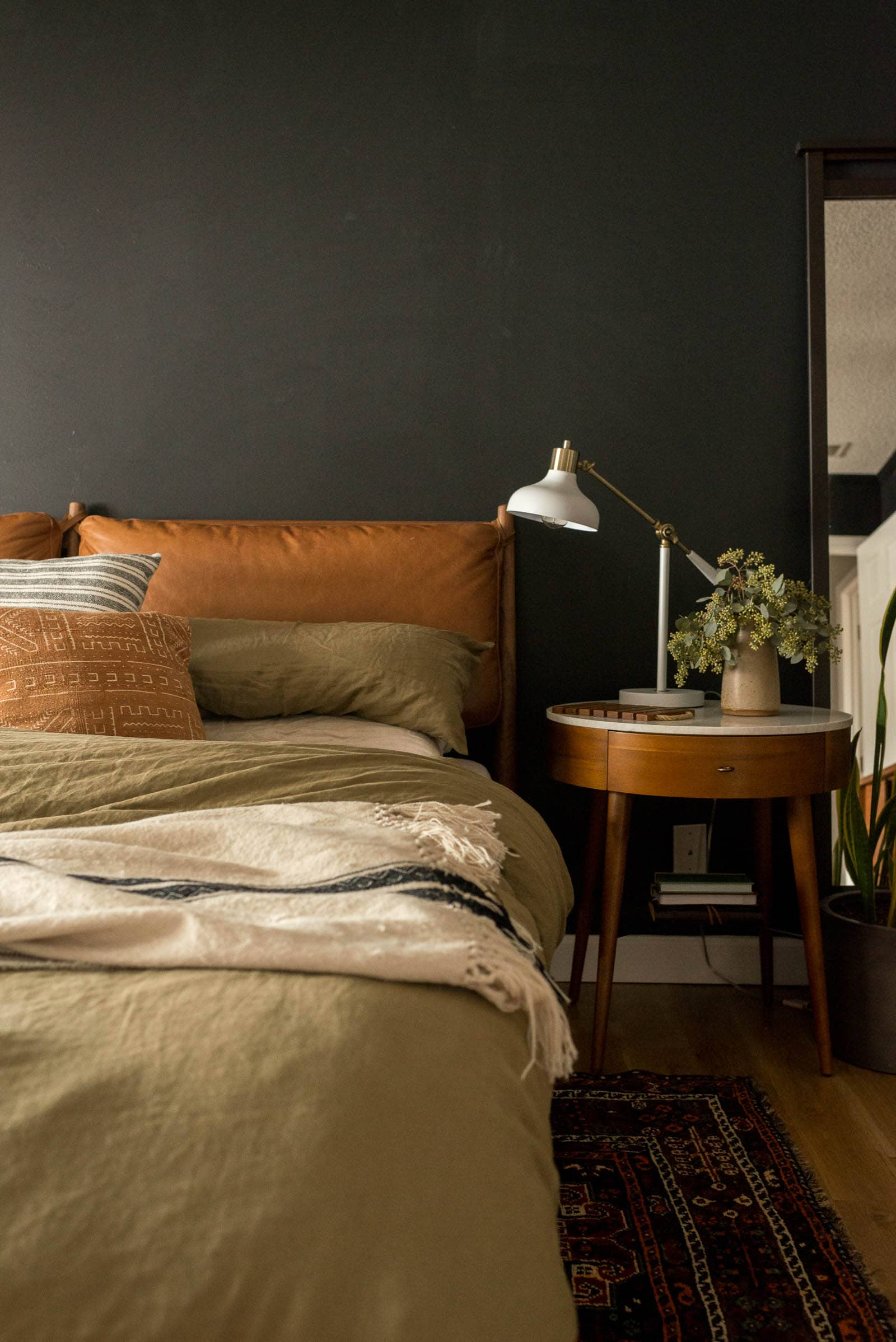West elm bed and nightstands