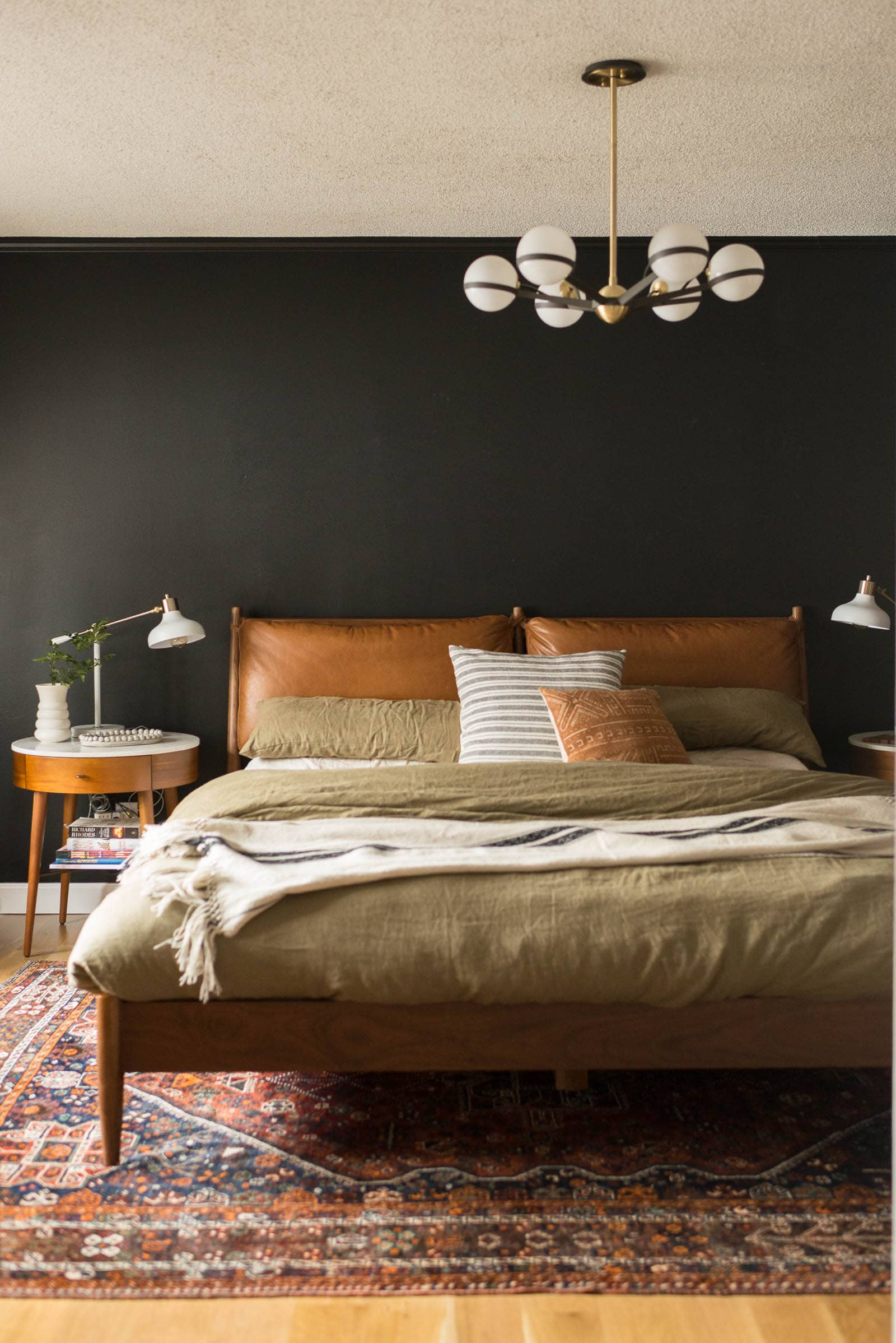 Leather West Elm bed
