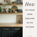 diy floating kitchen shelves