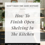 kitchen open shelving how to
