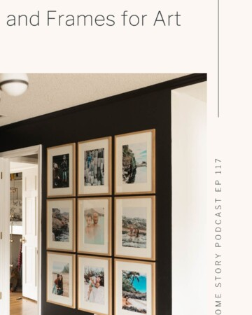 Grid gallery wall how to pick frames and mats