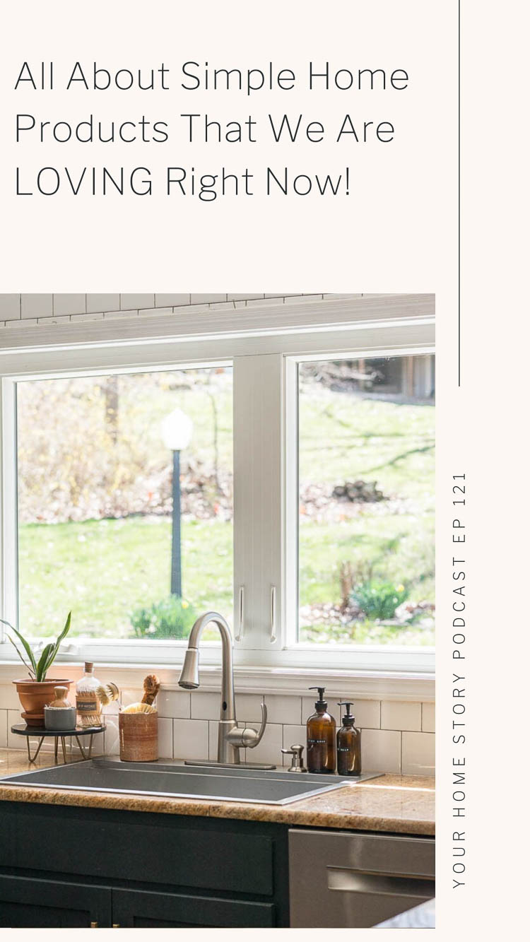 Simple home products around the sink