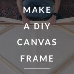 make a diy canvas frame