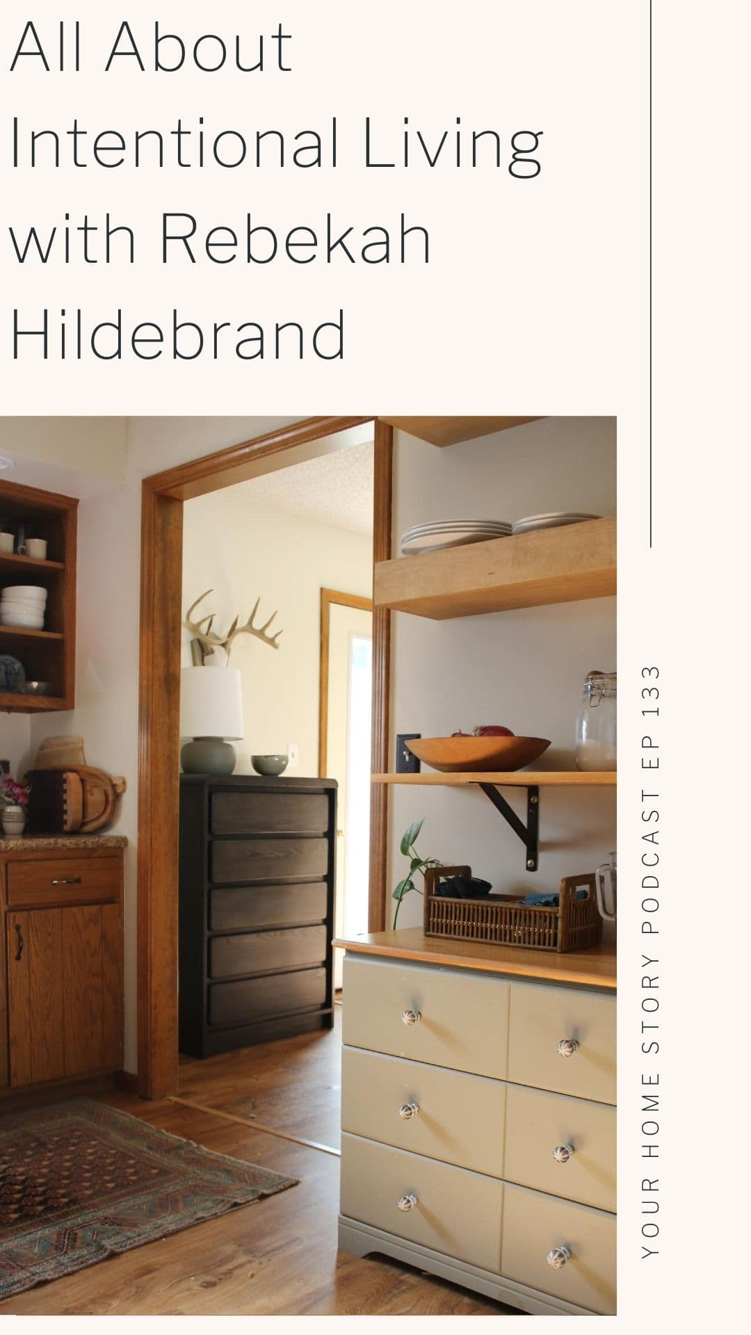 All About Intentional Living featuring a kitchen and storage dresser