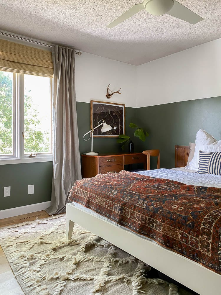 Conifer Green by Behr in Bedroom