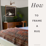 How to frame a rug