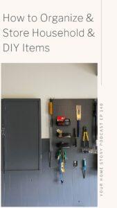 how to organize DIY supplies