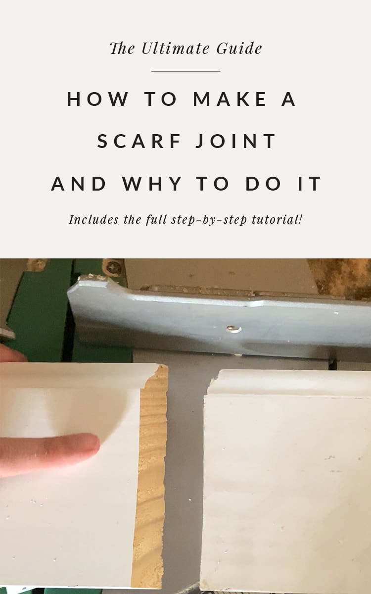 How to make a scarf joint including the angle of the scarf joint.
