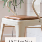 Leather seat cushion DIY