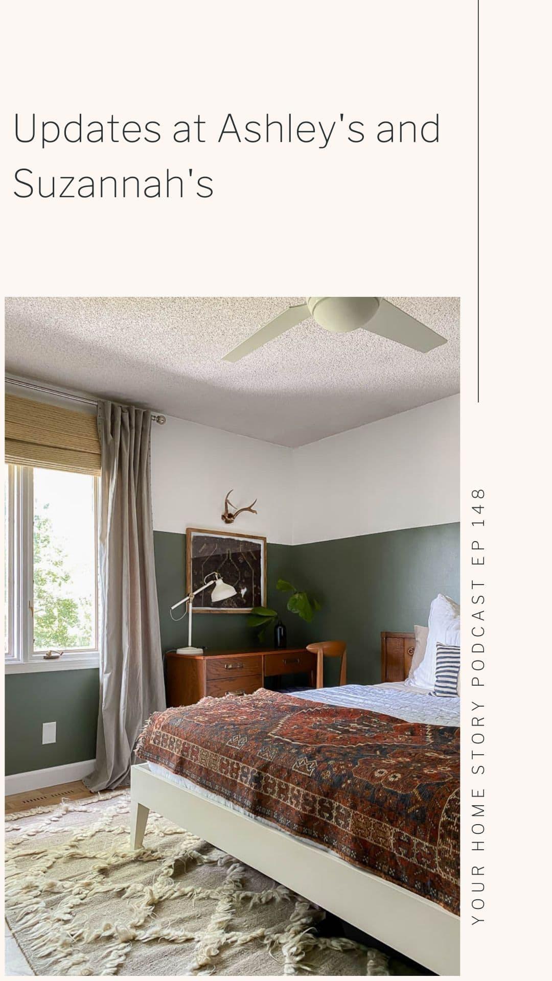 DIY Updates featuring a rug as art